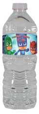 PJ Masks water bottle labels