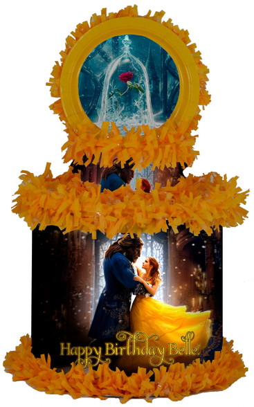 Belle Beauty and the Beast 2017 movie personalized pinata