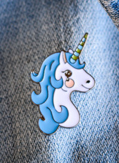Unicorn Blue Enamel Pin
