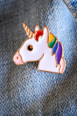 Unicorn Rainbow Enamel Pin