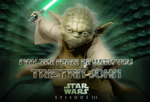 star wars yoda personalized poster