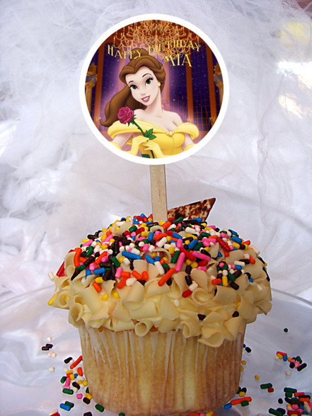 Belle Beauty and the Beast cupcake topper