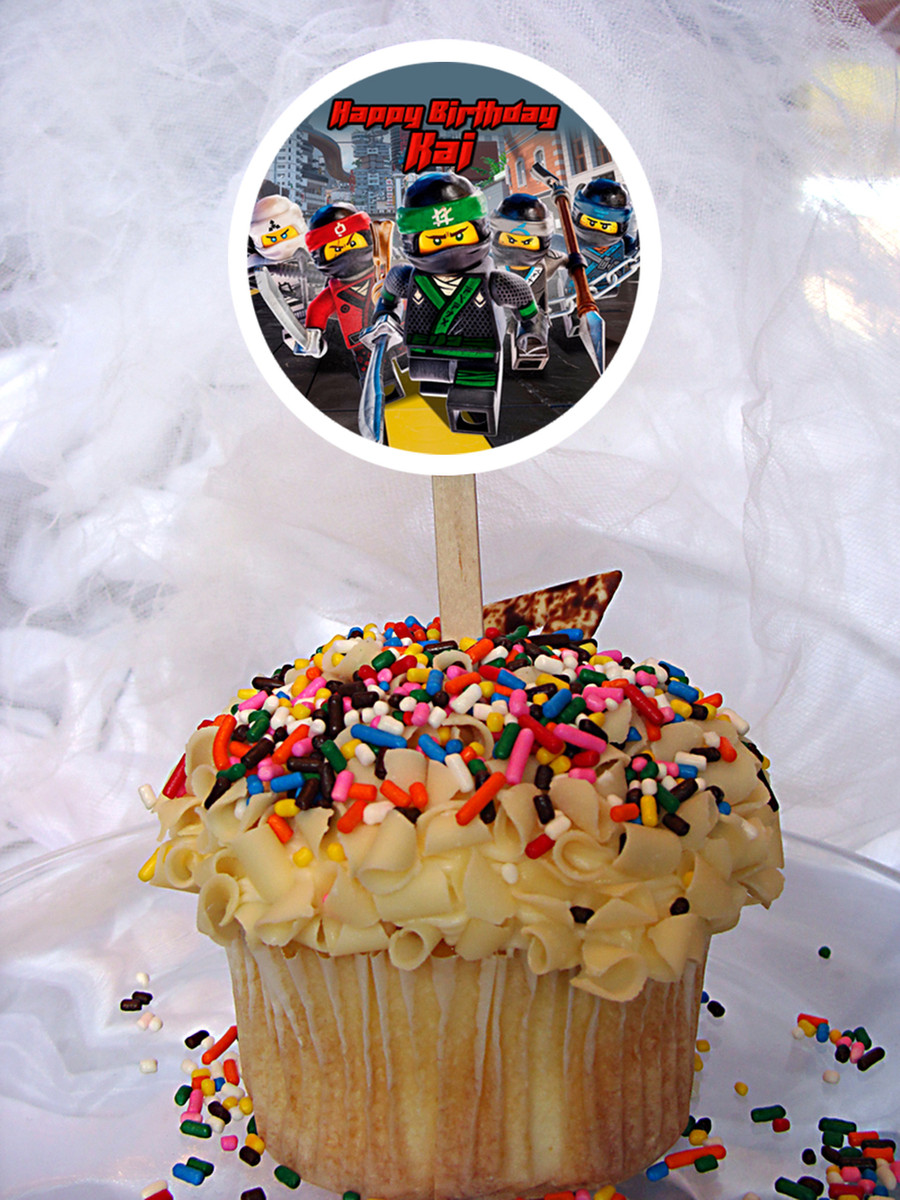 Lego Ninjago Movie Cupcake Topper Click To Enlarge