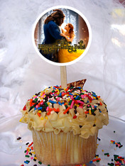 Beauty and the Beast 2017 movie cupcake topper