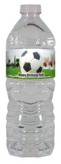 Soccer water bottle label