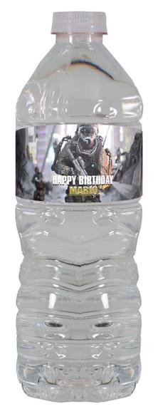 Call of Duty Advanced Warfare water bottle labels