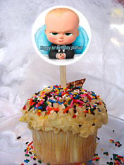 The Boss Baby cupcake toppers