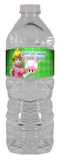 Princess Peach water bottle labels