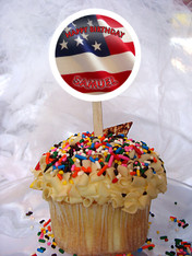 American Flag cupcake toppers