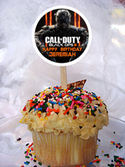 Call of Duty Black Ops 3 cupcake toppers
