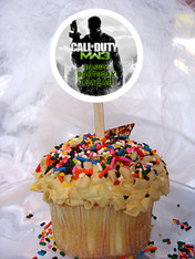 Call of Duty MW3 cupcake toppers