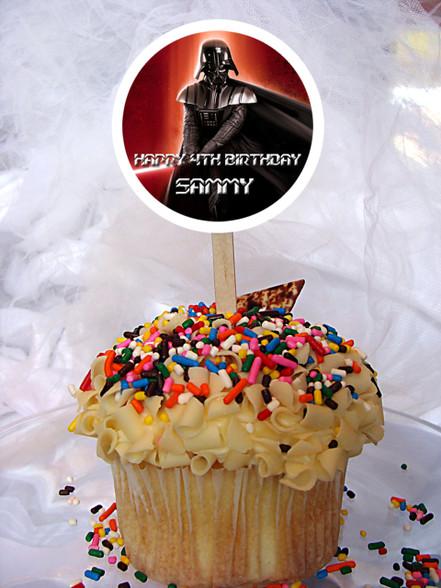 Star Wars Darth Vader cupcake toppers