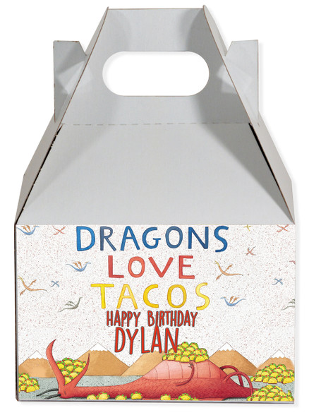 Dragons Love Tacos gable boxes