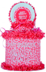 Pink Leopard Personalized Pinata