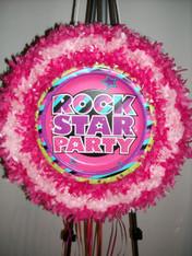 Rock star party pull pinata