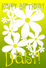 Daisy Personalized Poster
