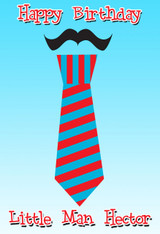 Tie Little Man Personalized Poster