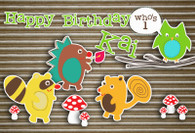 Woodland Creatures Personalized Poster
