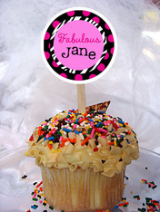 Fabulous Personalized Cupcake Toppers