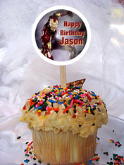 Iron Man Personalized Cupcake Toppers
