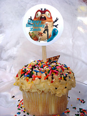 Monsters Vs Aliens Personalized Cupcake Toppers