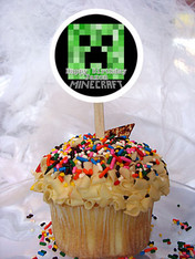 Minecraft Personalized Cupcake Toppers