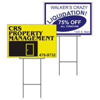 "24"" x 18"" Corrugated Plastic Yard Sign with H-Stake"