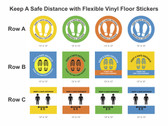"""""""Social Distancing"""" Vinyl Floor Stickers - 13"""" (6 stickers to a pack)"""