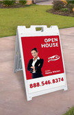 "Signicade® MDX  A-Frame with Two 18"" x 24"" Custom Coroplast  Sign Inserts"