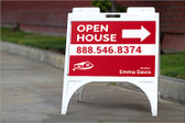 "SIGNICADE® QUICK SIGN A-FRAME WITH TWO 24"" X 18"" CUSTOM COROPLAST SIGN INSERTS"