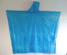 Blue Disposable Rain Poncho