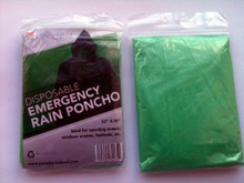 Green Disposable Rain Poncho