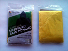 Yellow Disposable Rain Poncho