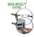 6 Terminals Quick connector plug  condenser