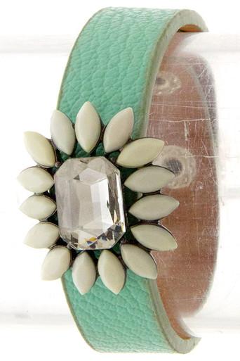 Emerald Cut Jewel Bracelet in Mint