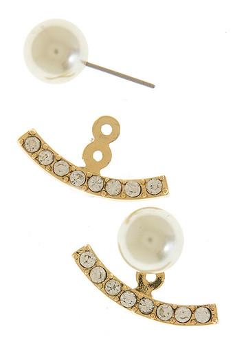 Pearl Lining Ear Jacket in Gold