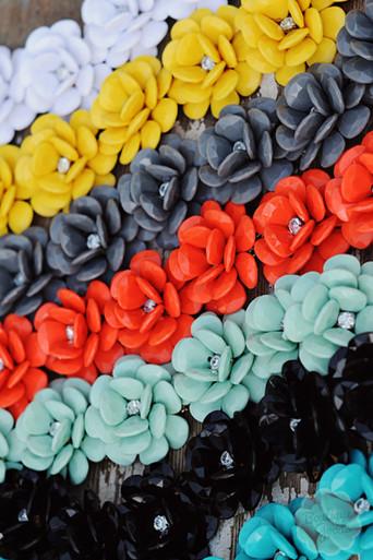 Showstopper Rosette Necklace in Black