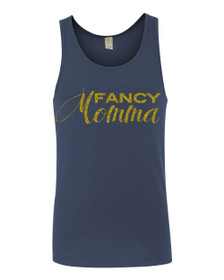 Fancy Momma Miggy Tank Top in Marine.  Mom Tank Top, Mommy to be top, Bling Fancy Tank Top, Gold Glitter, Mother's Day Shirt, Mom Tshirt, Motherhood, Super Mom, Pregnancy Shirt