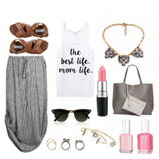 Spring Outfit Mom Life Tank