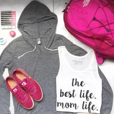 Weekend Vibes for Motherhood.  Mom Life is the Best Life tee, #Momlife Shirt, Momlife, Best Life Ever, Mom Life TShirt, The Best Life Mom Life, Motherhood, Pregnancy Tee.