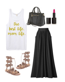 1108 Boutique Mom Life Sweatshirt Dressed up Tank Top Outfit