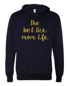 Mom Life Hoodie in Navy Blue