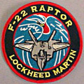 Lockheed Martin F-22 Raptor Uniform Patch