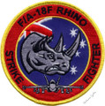 F/A-18F Rhino Strike Fighter Uniform Patch