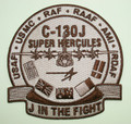J IN THE FIGHT Uniform Patch C-130J SUPER HERCULES