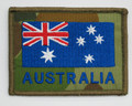 Embroidered Australian Flag on DPCU 75mm x 55mm