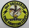 1 Sqn Fighting First Round Uniform Patch