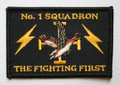 1 Sqn Fighting First Rectangle Uniform Patch