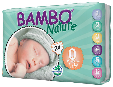 Bambo Nature Premature Nappies  - 1 to 3 kg