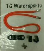"""Pelican Kayak  25"""" Bungee Kit with Hardware. Bright  Orange"""